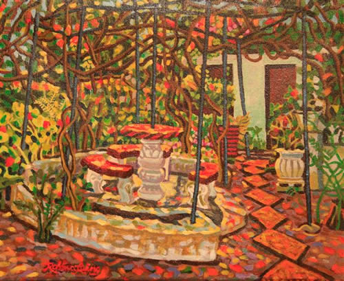 Art Gallery: Mexico Acrylic & Oil Paintings 2009-2015: Courtyard ...