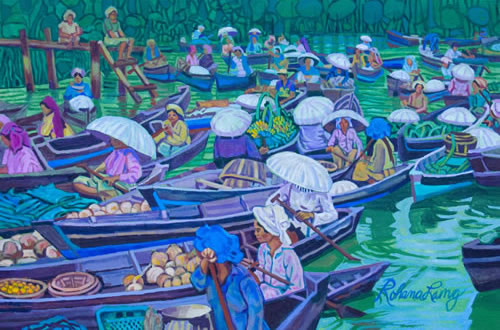 Floating Market, Kalimantan, Borneo