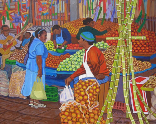 Market with Sugar Cane