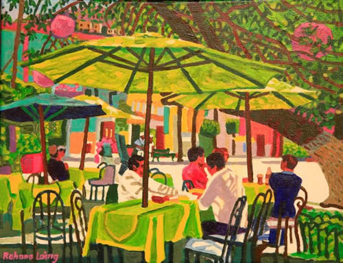 Art Gallery Mexico Acrylic Oil Paintings 2009 2016 Outdoor Cafe Guanajuato Index